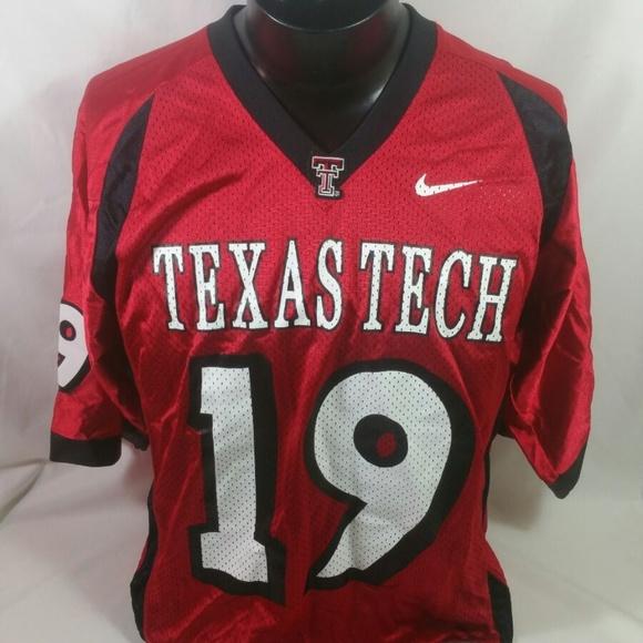 sale retailer 62187 7b017 Nike Texas Tech Red Raiders Football Jersey Men M